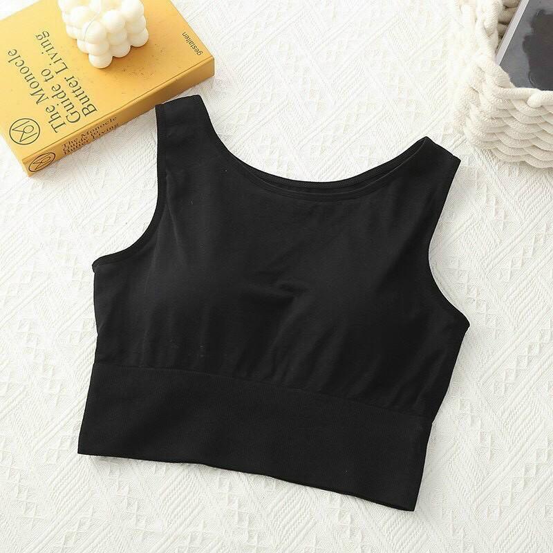 [HCM]Áo croptop nữ không tay dáng bo sành điệu - chất liêu dệt kim co giãn và cực tôn dáng - áo thun nữ sát nách - áo tập yoga nữ - áo ba lỗ nữ - áo tập gym nữ - Br13