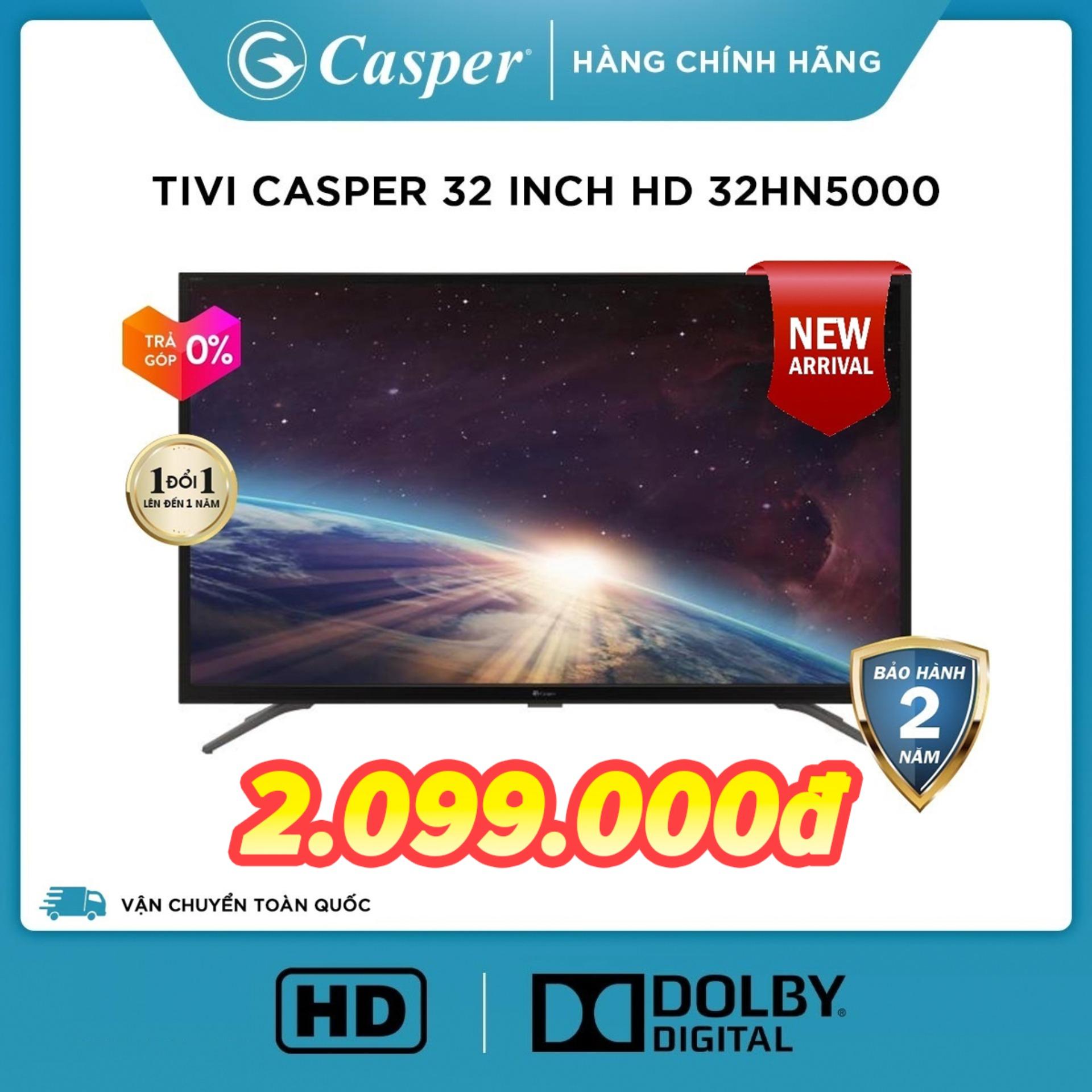 Bảng giá [Voucher 200k] Tivi Casper 32 inch LED HD Digital TV DVB-T2 32HN5000 (Đen) - Hàng Thái Lan - Đổi mới 1 năm - Bảo hành 2 năm [Sản phẩm mới] Điện máy Pico