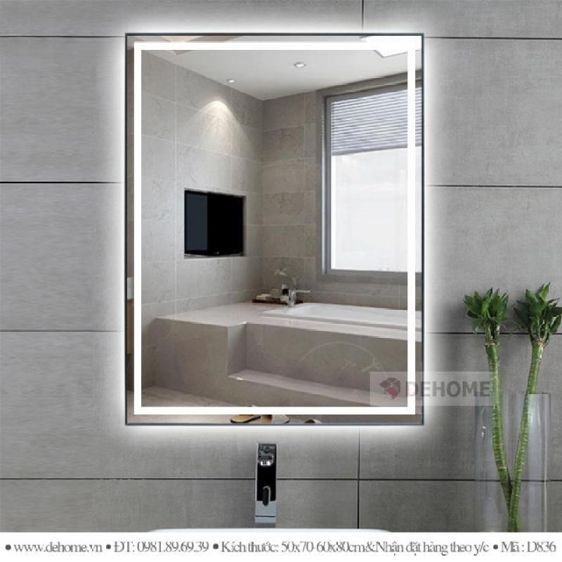 Gương nhà vệ sinh cảm ứng Dehome 60x80 cm D019