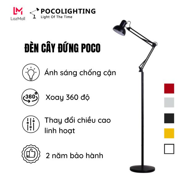 Đèn cây đứng POCO Bóng đèn Rạng Đông 7w đổi màu 3 chế độ ánh sáng Trắng, Vàng, Trung Tính phù hợp cho mọi không gian Phòng ngủ, Phòng khách, Phòng làm việc. Bảo hành 2 năm PCL-01