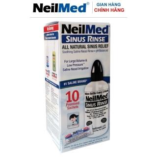 Bộ Dụng Cụ (Bình) Rửa Mũi Xoang Người Lớn NeilMed Sinus Rinse Adult Kit (1 bình 10 gói hỗn hợp muối rửa) thumbnail