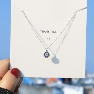 Dây chuyền dây chuyền nữ dây chuyền bạc dây chuyền thiết kế đơn giản đính đá XB-DB40 - Bảo Ngọc Jewelry thumbnail