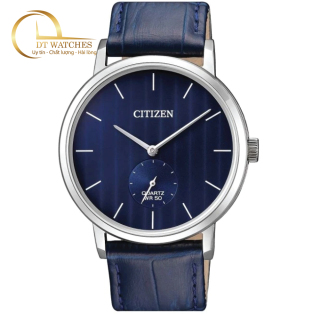 Đồng hồ Nam Citizen BE9170-05L mặt xanh, dây da, kính cứng - Máy pin thumbnail