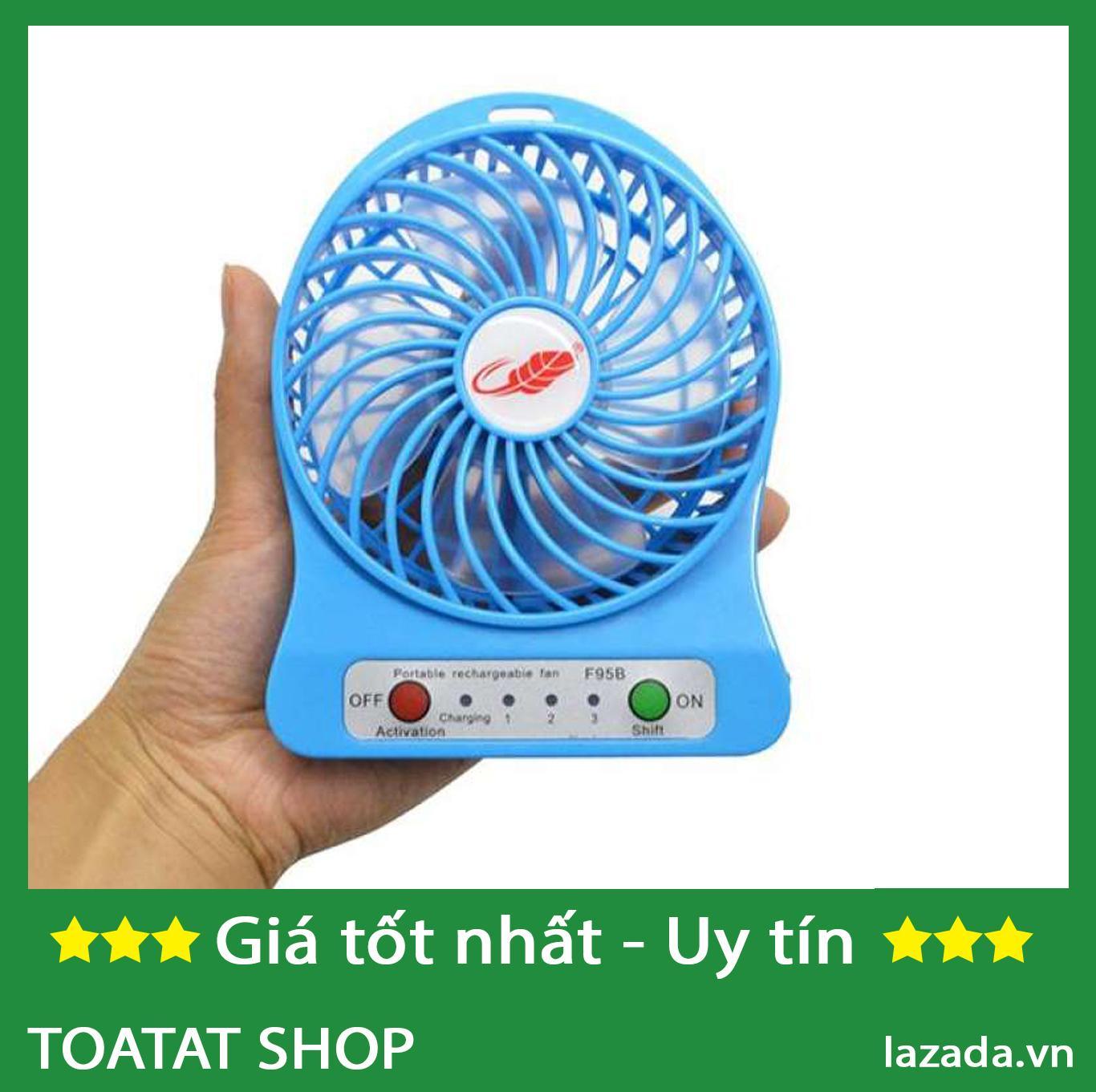 Bảng giá QUẠT MINI 3 TỐC ĐỘ PIN SẠC.CỔNG USB Phong Vũ