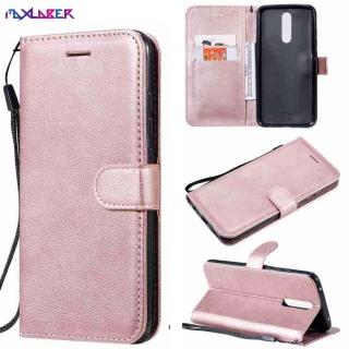 MAXLABER For Xiaomi Redmi 8 Cổ điển PU Leather Card Chủ Thiết kế dây đeo cổ tay Từ đứng Flip Shockproof Ví CaseXiaomi Redmi 8 Vỏ điện thoại thumbnail