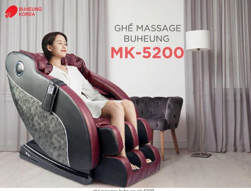 Ghế Massage MK-5200, Hiệu Buheung Bất Ngờ Giảm Giá