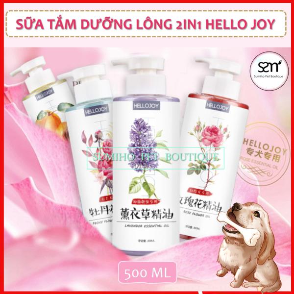 Sữa tắm cho chó Hello Joy 500ml (Hương Đào/Hoa Hồng/Oải Hương)