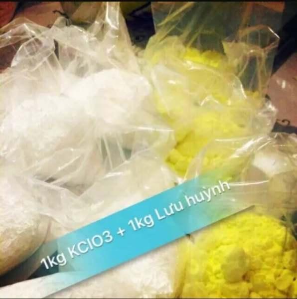 COMBO 1kg KCLO3 , 1kg Lưu Huỳnh (Giảm Giá Cực Sốc )
