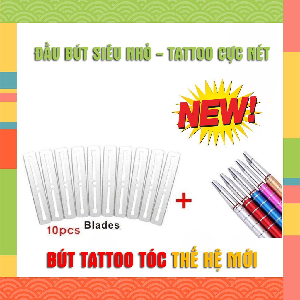 Dao Cạo Khắc Kiểu Tóc Đa Chức Năng Bút tatoo tóc hợp kim không gỉ nét nhỏ, tặng kèm 10 lưỡi dao - bút tattoo tóc tattoo tatto dao cạo dạng bút tốt nhất