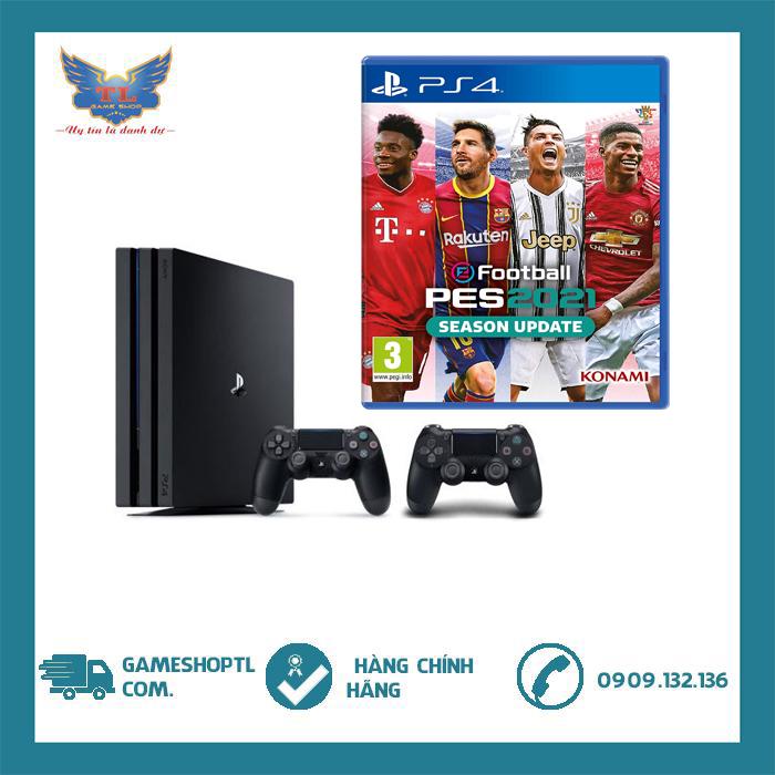 [TRẢ GÓP 0%] Máy Chơi Game Playstation 4 Pro + 2 Tay cầm + Đĩa Game Pes 2021 Hệ EU