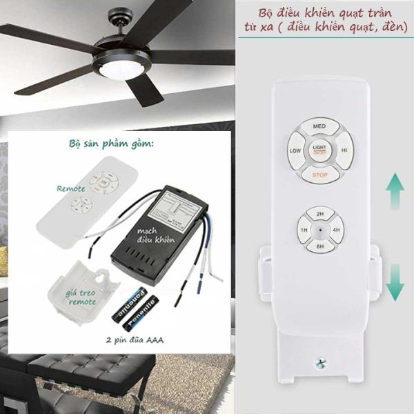 Bo mạch điều khiển từ xa cho quạt trần và đèn (cao cấp) mạch điều khiển quạt từ xa công tắc điều khiển từ xa remote mạch điều khiển quạt bộ điều khiển quạt trần từ xa