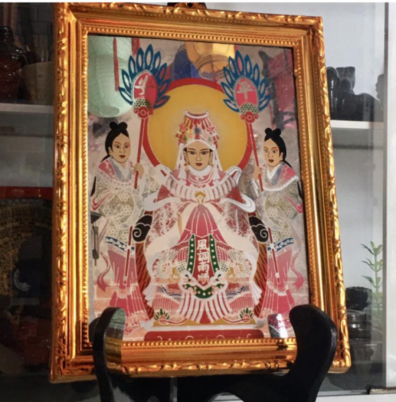 Bài vị Mẹ Cửu Thiên Quyền Nữ cao 26cm(mẹ sanh mẹ độ)