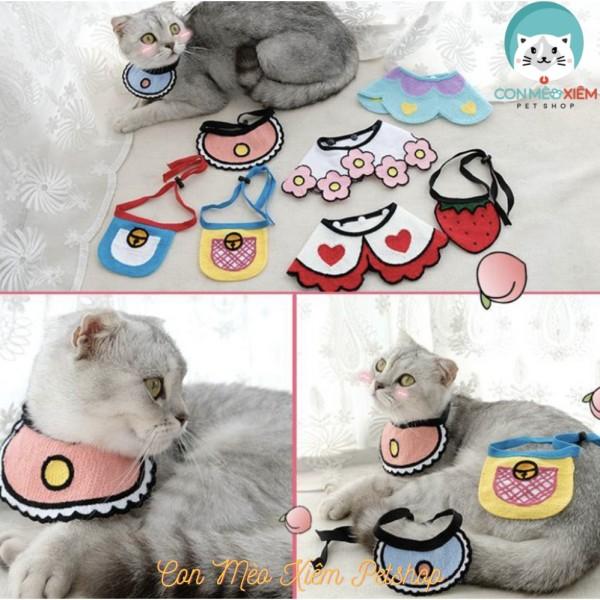 Yếm cho chó mèo dễ thương nhiều hình- Thời trang thú cưng Con Mèo Xiêm Pet Shop