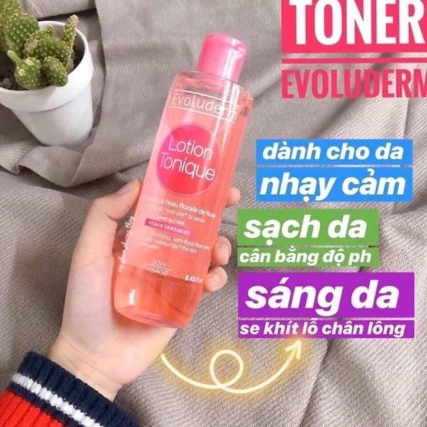 [siêu sale] Nước hoa hồng Evoluderm giúp ngăn ngừa mụn dành cho da hỗn hợp và da dầu mụn 250ml - Laha Shop nhập khẩu