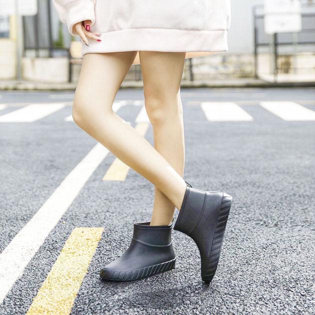 Nhật Bản Giày Nữ Chống Trượt Gân Thời Trang Mới Giày Cao Su Làm Việc Ủng Đi Mưa Nữ Ngắn Khởi Động Không Thấm Nước giá rẻ