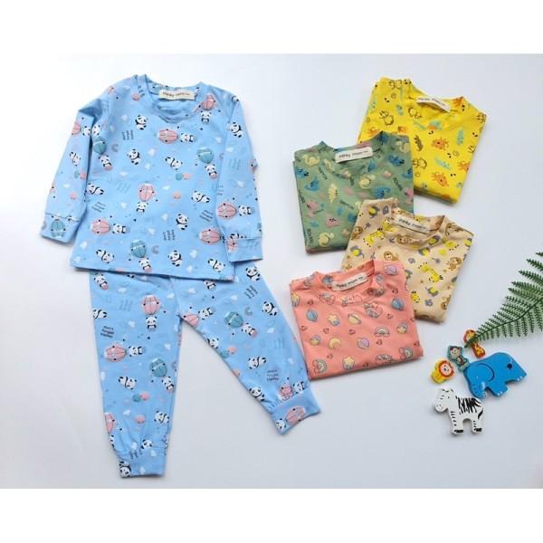 Giá bán Bộ Minky Mom Dài Tay Cho Bé Trai Bé Gái Chất  Cotton Cao Cấp Mềm Mịn Co Giãn Thấm Hút Mồ Hôi Tốt