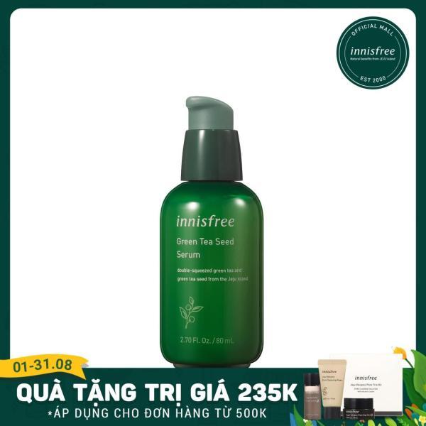 Tinh chất dưỡng ẩm cô đặc từ trà xanh và dầu hạt trà xanh tươi Jeju Innisfree The Green Tea Seed Serum 80ml - NEW giá rẻ