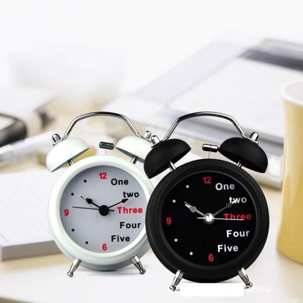 Nơi bán [FREESHIP 50K]Đồng hồ báo thức bằng chuông có đèn.