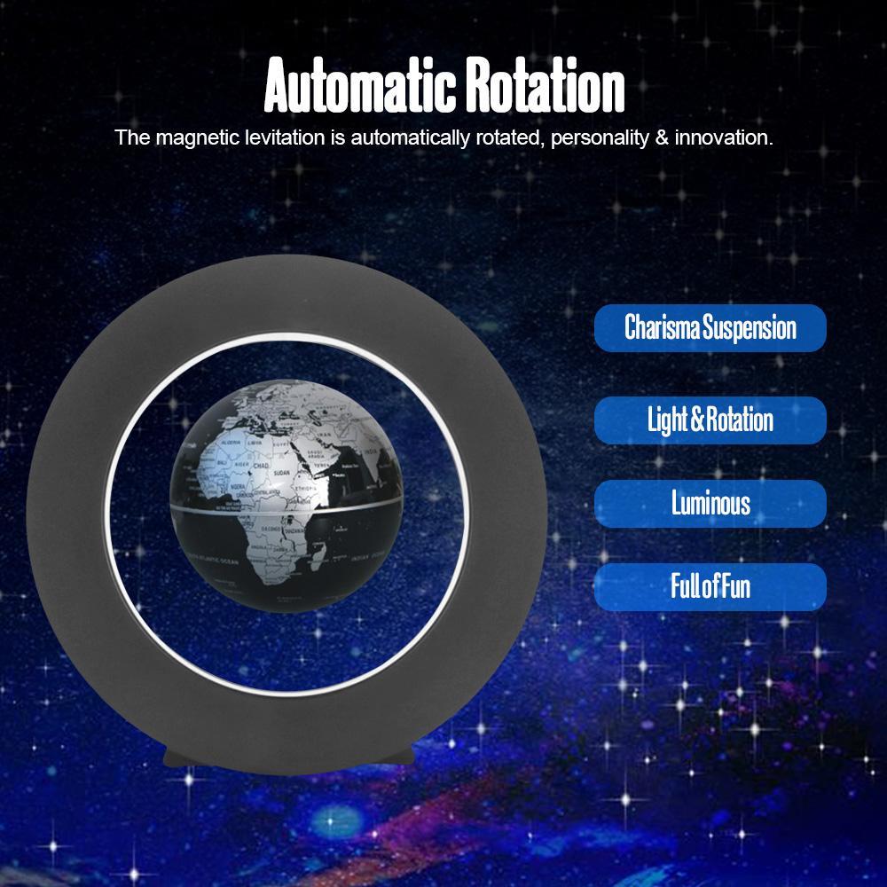 Floating Globe LED World Map Magnetic Levitation Light Antigravity gift  O Shape