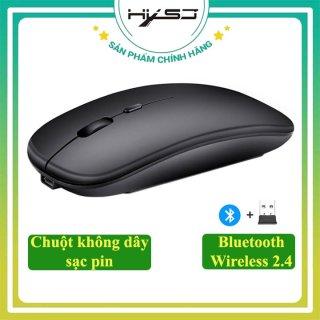 Chuột không dây bluetooth HXSJ M90, Chuột không dây công nghệ 2.4GHz USB, kết nối bluetooth khoảng cách kết nối lên đến 10m chất liệu ABS cao cấp, nhỏ gọn, thời trang-Hàng chính hãng Bảo hành 12 tháng thumbnail
