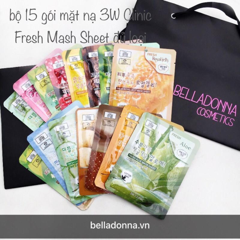 Bộ 15 Gói Mặt Nạ Dưỡng Da 3w Clinic Fresh Mask Sheet 15X23ml