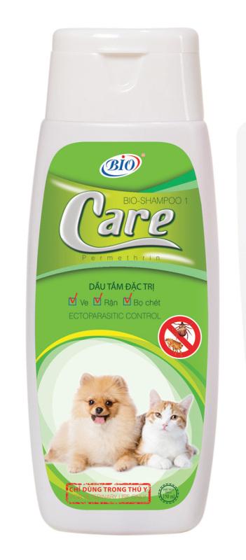 Bio-Care 150ml -  Dầu tắm cao cấp cho thú cưng bị ve, rận, bọ chét