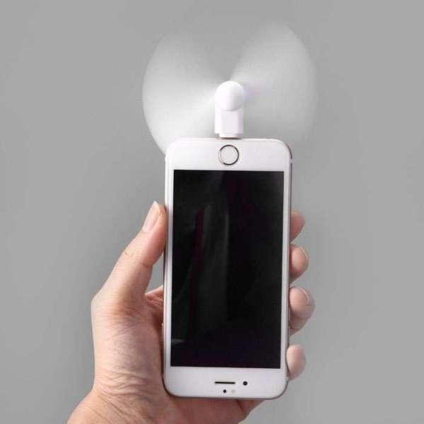 Quạt Mini 2 Cánh Cắm Điện Thoại Android Iphone