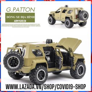 ( Cam kết sản phẩm y hình, uy tín, chất lượng ) Mô hình kim loại xe địa hình PATTON SUV kích thước lớn, tỉ lệ 1 24 thumbnail