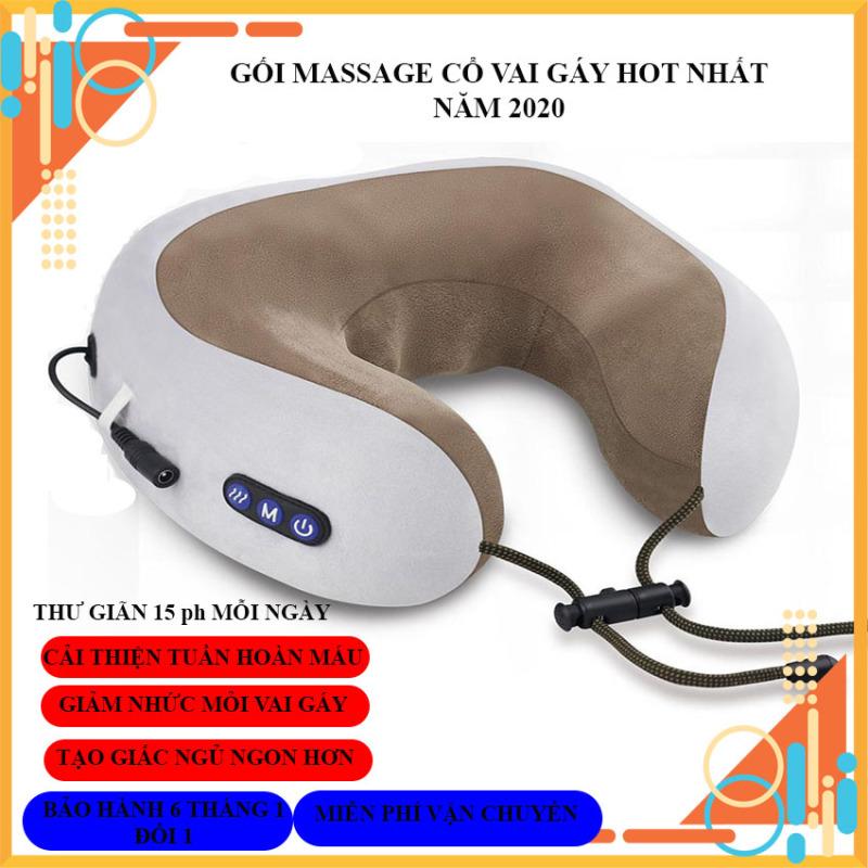 Gối massage cổ chữ U cao cấp đa năng, gối ngủ văn phòng, gối massage trị liệu, gối mát xa cổ vai gáy chữ U, gối mát xa cổ cao cấp, gối mát xa sạc pin, gối massage cổ chữ U đa năng hót nhất năm 2020.