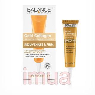 Kem Vàng Giảm Thâm Quầng Mắt Balance Active Formula Gold Collagen Eye Serum 15ml Anh quốc thumbnail