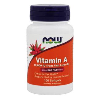 Viên uống bổ mắt Vitamin A 10000 IU, duy trì sức khỏe mắt, đẹp da, Now Foods, 100 Viên thumbnail