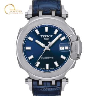 Đồng hồ Nam Tissot T115.407.17.041.00 T-Race Swissmatic, mặt xanh, dây da, kính shapphire - Máy cơ tự động thumbnail