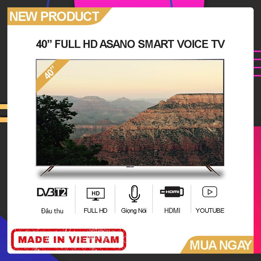 Bảng giá Smart Voice TV Asano 40 inch Full HD - Model 40EK7 (Android 7.1, Tích hợp giọng nói, Youtube, Tích hợp DVB-T2) - Bảo Hành 2 Năm