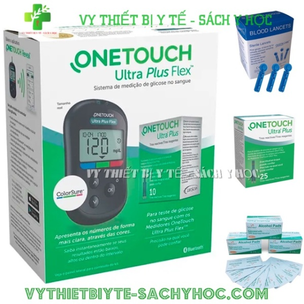 Nơi bán Máy Đo Đường Huyết ONE Touch Ultra Plus Flex Tặng 25 Que - 4 hộp que thử