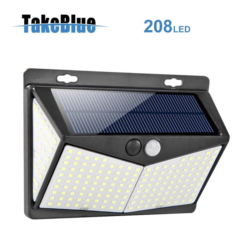 TakeBlue đèn năng lượng mặt trời 208 Led Cảm biến chuyển động