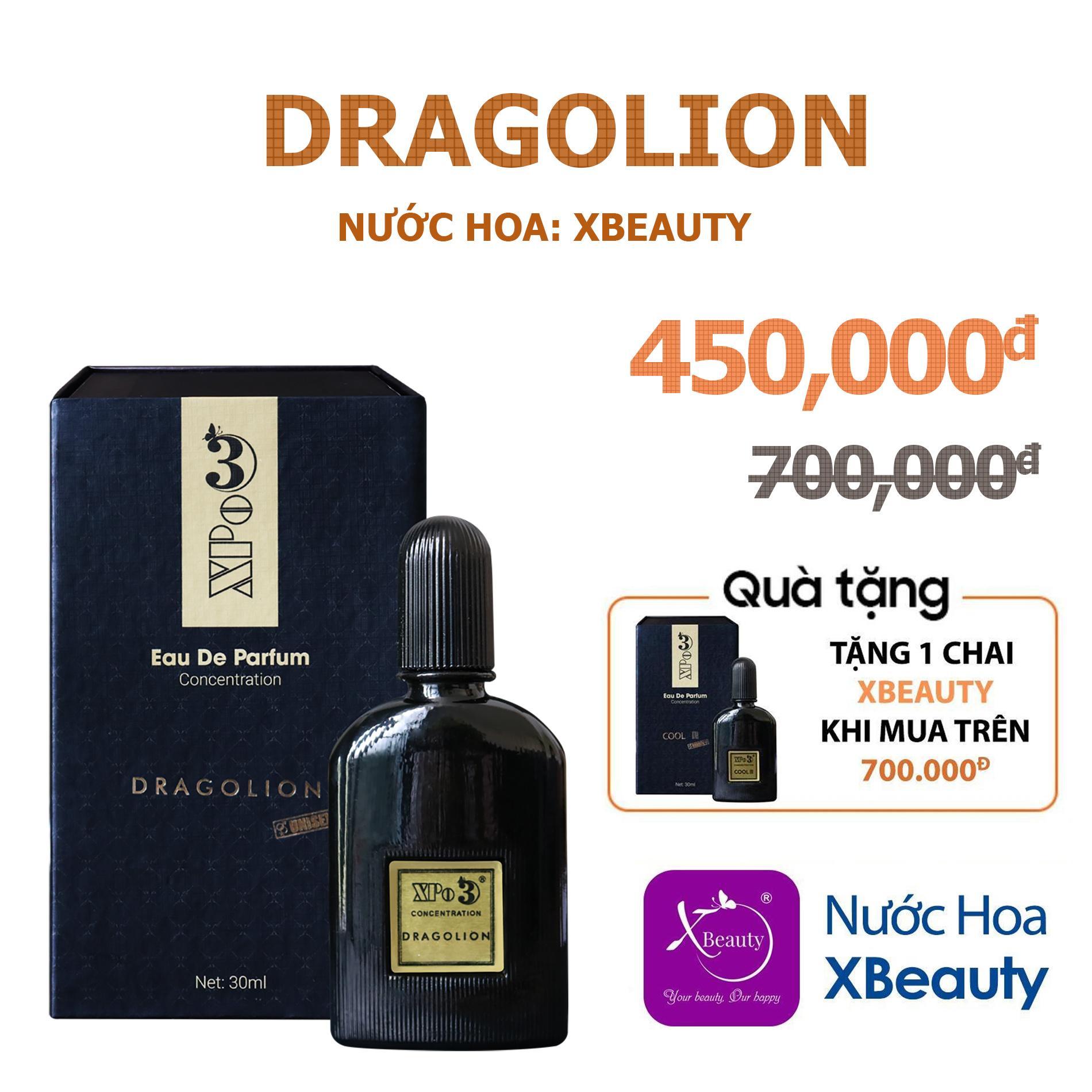 Nước hoa Nam Nữ XBeauty XPo3 Dragolion 30ml (GTIN: 8938511722093). Nước hoa cô đặc thơm lâu dành cho cả Nam & Nữ (Unisex)