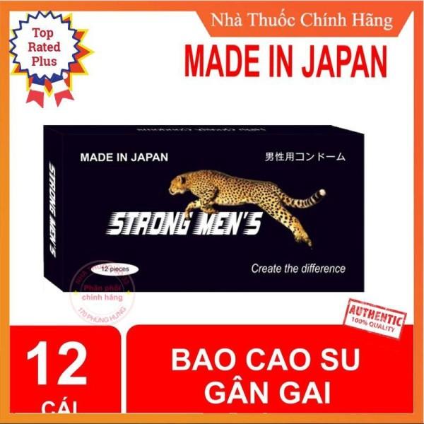 [GIÁ SỈ] Bao cao su kéo dài thời gian Strong Mens nhật bản ( hộp 12 chiếc)
