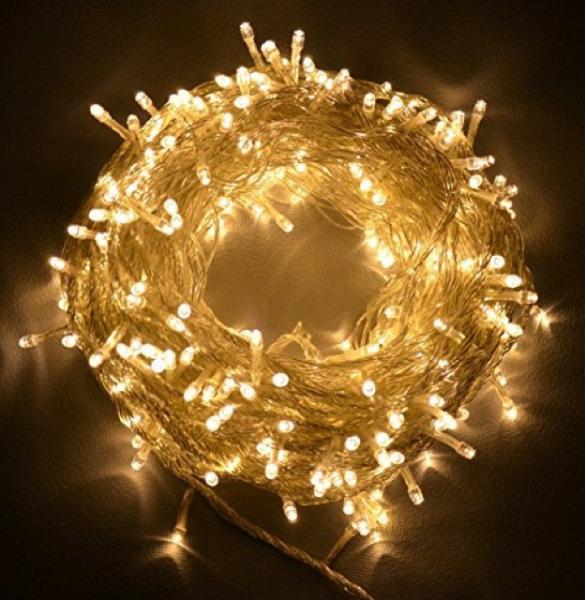 Đèn Led Xài Điện Không Chớp Nháy-10M 100 Bóng Đèn Đom Đóm Fairy Light Trang Trí Quấn Cây Đào Quất Sân Vườn Noel Lễ Tết