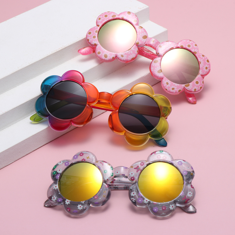 Giá bán YOUTHSTORE17E5 Cute Photography Travel Party Favors Flower Shaped Sunglasses for Toddler Girls Boys Round Flower Sunglasses Kids Sunglasses