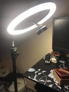 Bộ livestream 3 trong 1 - giá đỡ điện thoại, giá đỡ mic, đèn LED 397k 1 bộ cuc re thumbnail