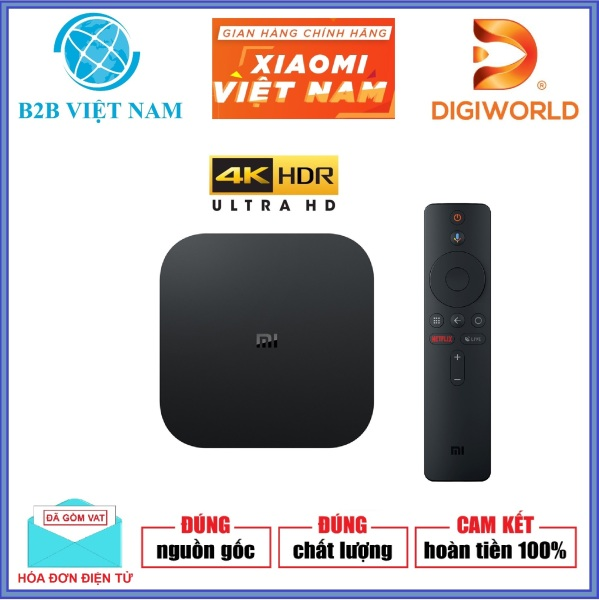 Bảng giá Android TV Box Xiaomi Mibox S 4K Ultra HD Global /Tiếng Việt/Digiworld phân phối
