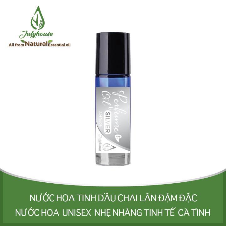 Nước hoa tinh dầu Unisex dạng chai lăn Silver No.05 5ml JULYHOUSE cao cấp