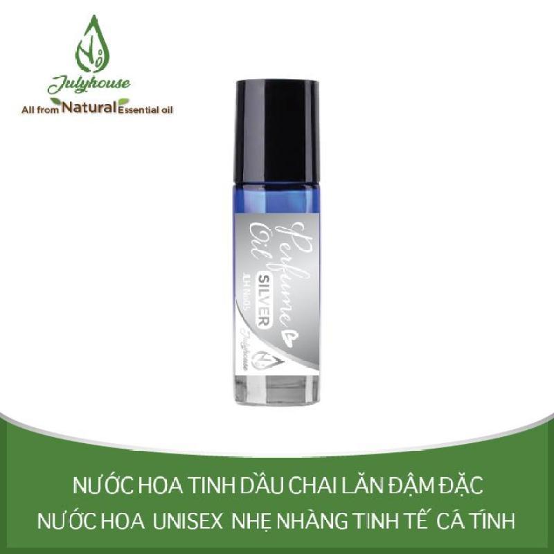 [Chính Hãng] Nước hoa tinh dầu Unisex dạng chai lăn Silver No.05 5ml JULYHOUSE nhập khẩu