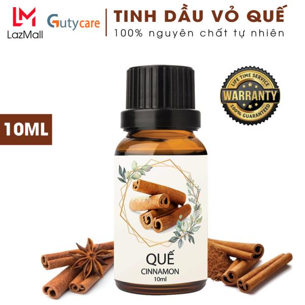 Tinh dầu Quế đuổi muỗi GUTY Oils với vỏ quế nguyên chất dùng cho đèn xông tinh dầu, xông phòng, lau nhà, tinh dau khử mùi, làm thơm phòng, cân bằng tinh thần, tạo giấc ngủ sâu, khử khuẩn, giảm ho, chống say xe - Lọ 10 ml - Guty Care