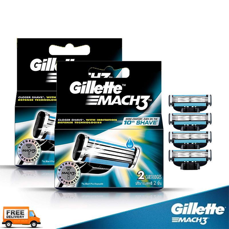 Gillette lưỡi dao cạo râu Gillette Mach 3, (set 02 hộp 04 lưỡi, mẫu mới 2019) giá rẻ
