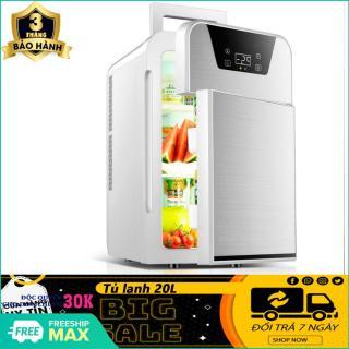 (BẢO HÀNH 3 THÁNG) Tủ lạnh 20L- Tủ lạnh mini- Tủ lạnh 20L hiển thị nhiệt độ, 2 ngăn- Tủ lạnh 2 ngăn- 2 chiều nóng lạnh, nguồn vào 12v 220v- Tủ lạnh mini cho xe hơi và gia đình- Hỗ trợ đổi trả 7 ngày thumbnail