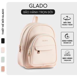 Balo nữ năng động trẻ trung phong cách Hàn Quốc thời trang Glado màu hồng nhạt - GB005 thumbnail