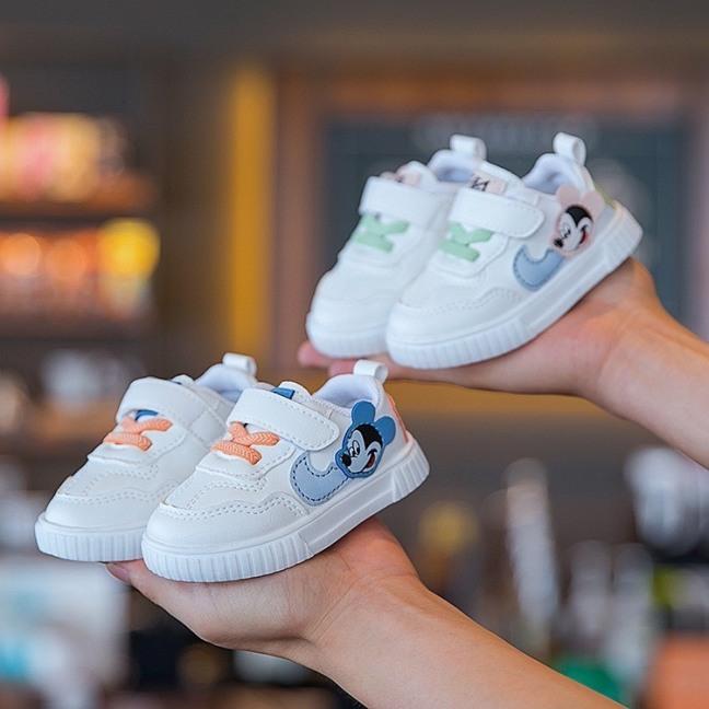 Giày Thể Thao MicKey Dây Cho Bé Trai/ Bé Gái - Giày Bata, Thể Thao Cho Bé Có Size Từ 6 Tháng Đến 3 Tuổi -G01 giá rẻ