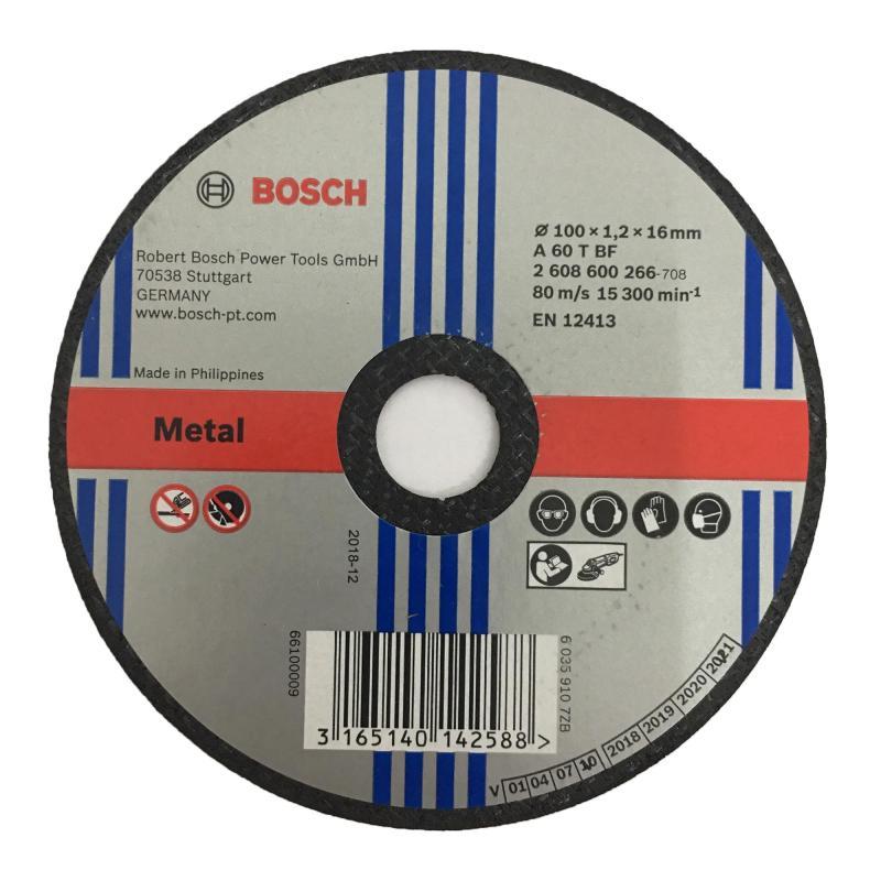 Bộ 5 lưỡi đá cắt sắt Bosch 100 x 1.2 x 16 mm 2806800266