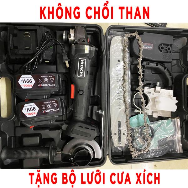 [ TẶNG BỘ LƯỠI CƯA XÍCH ] Máy mài pin HITACHI - máy mài cầm tay - máy mài góc dùng pin 10 cell - máy cắt cầm tay - máy căt góc - máy đánh bóng - máy cưa - máy cắt cây - máy cưa giá rẻ - máy cưa cầm tay - lưỡi cưa xích